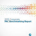 Cover of 2015 Corporate PAC Benchmarking Report